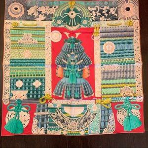 Gently used Hermès Parures de Samourais scarf